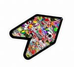 Multi Colour STICKERBOMB WAKABA LEAF WAK Young Driver JDM Car Sticker Bomb Decal 120x80mm